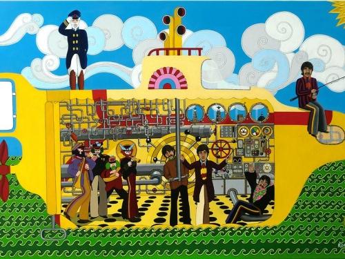 """Canción """"Yellow Submarine"""" con letra para presentación 1º básico A en Gala de Inglés."""