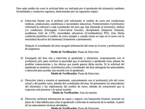 PROTOCOLO CAMBIO DE CURSO
