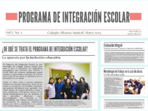 Nuevo Programa Integración Escolar Colegio Alianza Austral